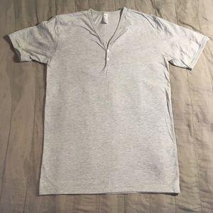 American Apparel brand, v-neck t-shirt, size Med